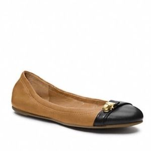 Coach Delphine Tan Leather Ballet Flats Size 6